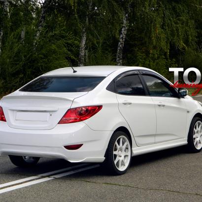 Козырек на заднее стекло RS на Hyundai Solaris
