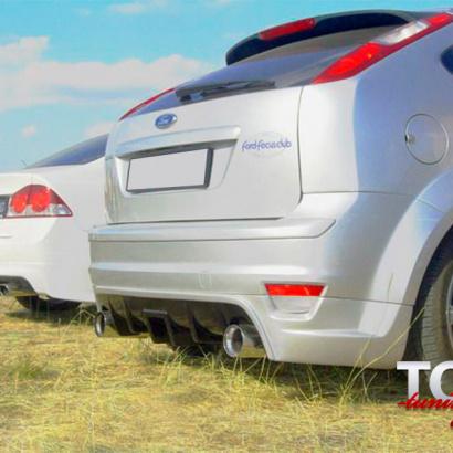 Накладка на задний бампер ST Style на Ford Focus 2