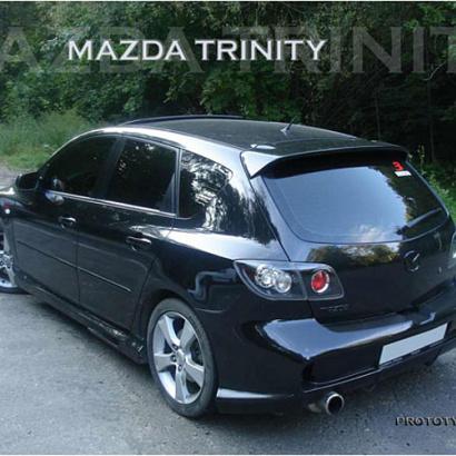 Задний бампер - Обвес на Mazda 3 BK