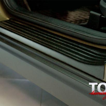 Накладки на внутренние пороги дверей на Kia Sportage 4