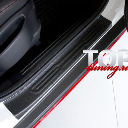 Накладки на внутренние пороги дверей на Kia Soul 2 поколение