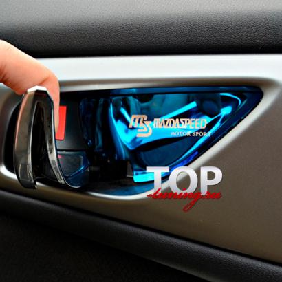 Декоративные вставки в ручки дверей на Mazda CX-5 1 поколение