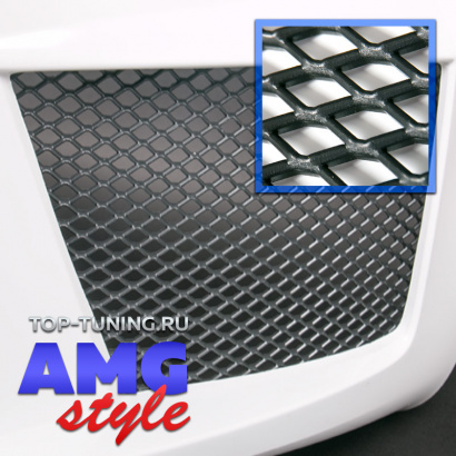 Пластиковая тюнинг сетка AMG Style 120 x 30 см
