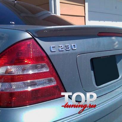 Спойлер на крышку багажника на Mercedes E-Class W211