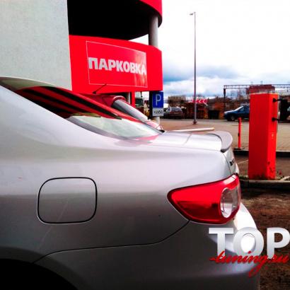 Лип-спойлер на Toyota Corolla E150