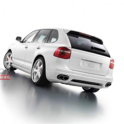 Накладка на задний бампер - Обвес на Porsche Cayenne 957