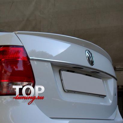 Спойлер на крышку багажника на VW Polo 5