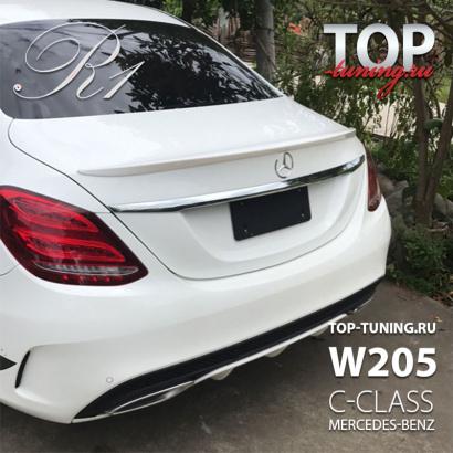 Спойлер крышки багажника на Mercedes C-Class W205