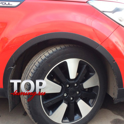 Накладки на колёсные арки на Kia Soul 2 поколение