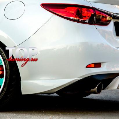 Накладки на задний бампер на Mazda 6 GJ