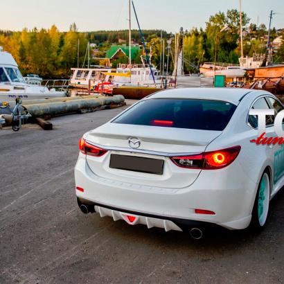 Лип-спойлер на Mazda 6 GJ