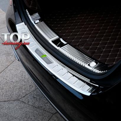 Протекторы заднего бампера  на Mercedes E-Class W213