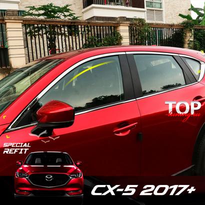 Хром пакет на окна на Mazda CX-5 2 поколение