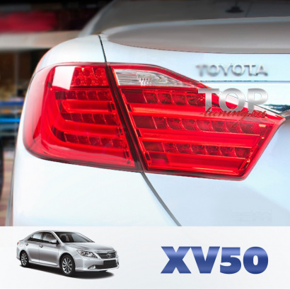 Задние светодиодные фонари  на Toyota Camry V50 (7)