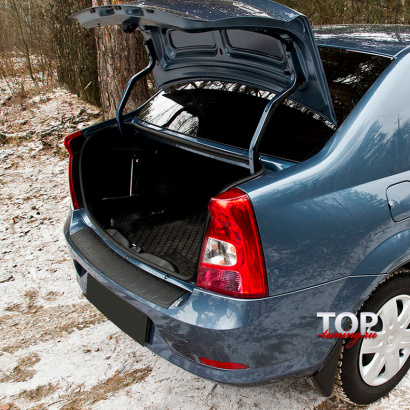 Защитная накладка на внутренний порог багажника Bastion на Renault Logan