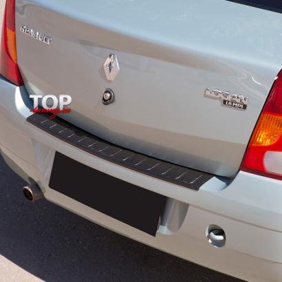 Протектор заднего бампера на Renault Logan
