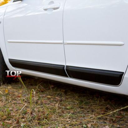 Молдинги на двери на Mazda 3 BK