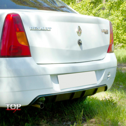Диффузор на задний бампер на Renault Logan
