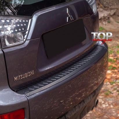 Протектор на задний бампер на Mitsubishi Outlander 2