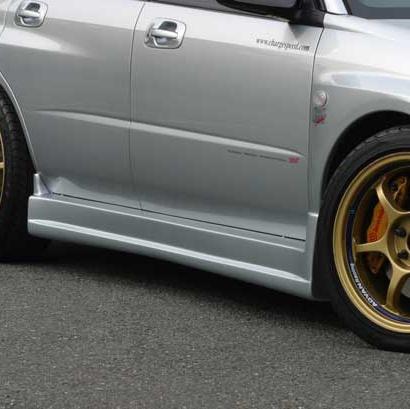 Накладки на пороги на Subaru Impreza WRX GD