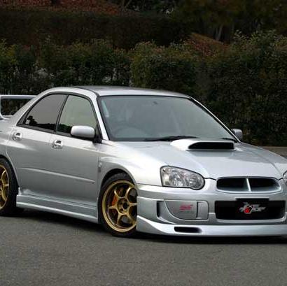 Обвес - накладки на пороги на Subaru Impreza WRX GD