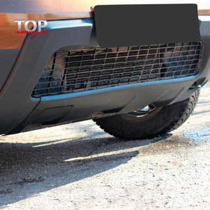 Накладка на передний бампер на Renault Duster 1