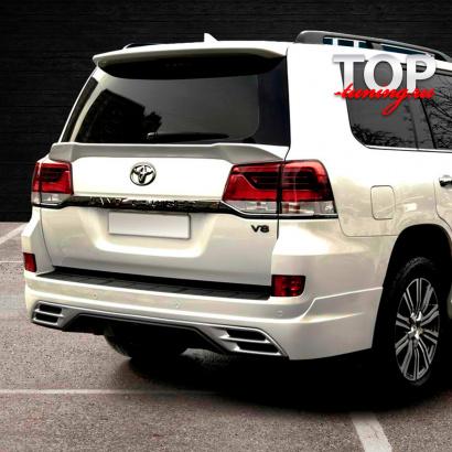 Юбка-диффузор заднего бампера на Toyota Land Cruiser 200