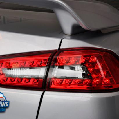Задние тюнинг фонари LUX на Mitsubishi Lancer 10 (X)