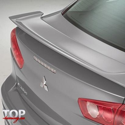 Спойлер на крышку багажника на Mitsubishi Lancer 10 (X)