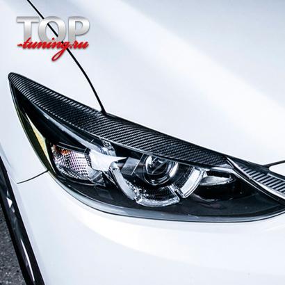 Карбоновые реснички на фары на Mazda 6 GJ