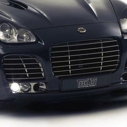 Накладка под номер - Обвес на Porsche Cayenne 955