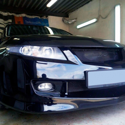 Маски ПТФ переднего бампера на Honda Accord 7