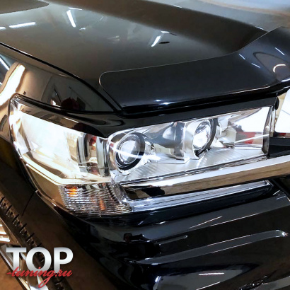 Реснички на фары на Toyota Land Cruiser 200
