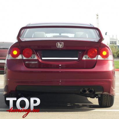 Накладка на задний бампер на Honda Civic 4D (8)