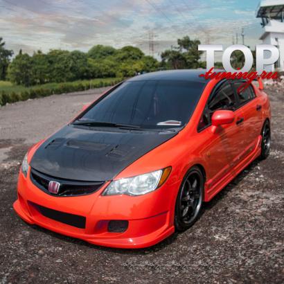 Аэродинамический обвес на Honda Civic 4D (8)