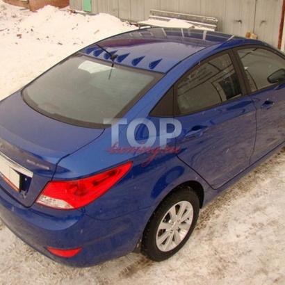 Козырек на Hyundai Solaris
