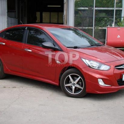 Пороги на Hyundai Solaris