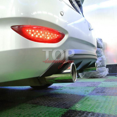 Диффузор на задний бампер на Hyundai Solaris