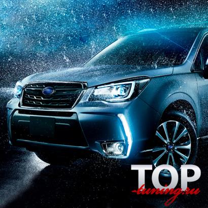 ДХО + Повторители поворота на Subaru Forester 4