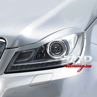Реснички на Mercedes C-Class W204