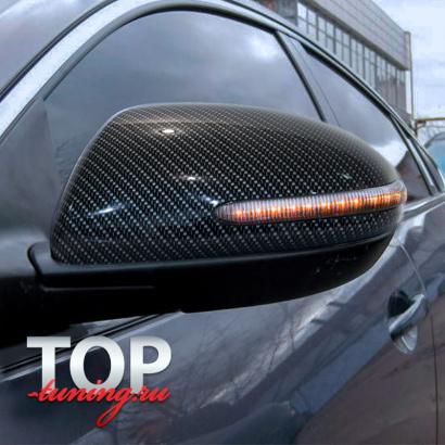 Крышки с указателями поворотов на зеркала CARBON STYLE на Mazda