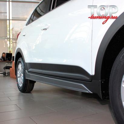 Накладки на пороги Ambassador на Hyundai Creta