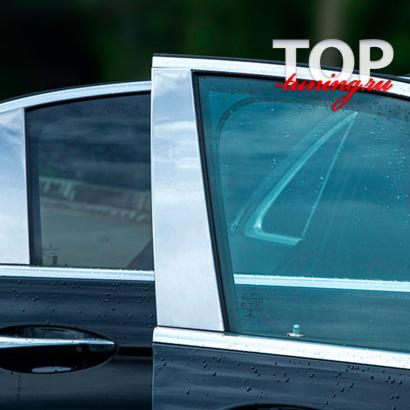 Хром пакет на стойки дверей на Mercedes E-Class W213