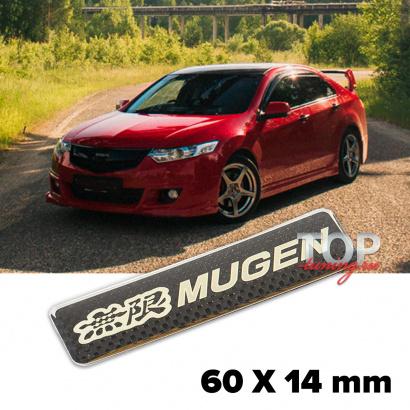 Шильдик эмблема Mugen Carbpn Style 60 x 14 mm на Honda