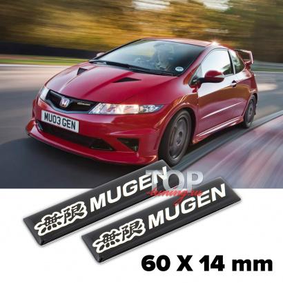 Шильдики эмблемы Mugen Black на Honda