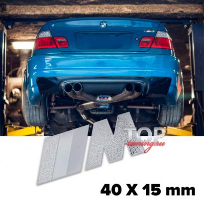 Шильдик эмблема M-Power 40 x 15mm на BMW