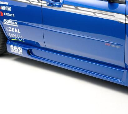 Накладки на пороги - Обвес на Subaru Impreza WRX GD