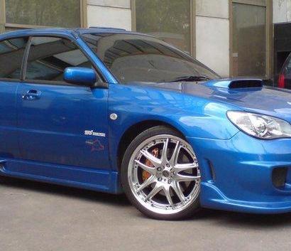 Передний бампер - Обвес на Subaru Impreza WRX GD