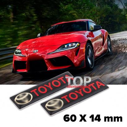 Шильдики эмблемы 60 x 14 mm на Toyota