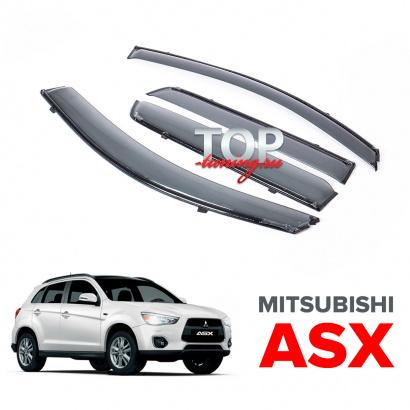 Дефлекторы на окна BLACK Line на Mitsubishi ASX